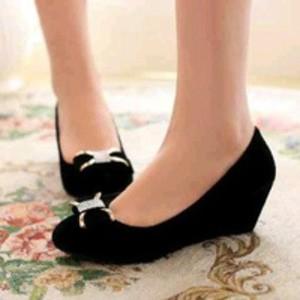 sepatu wedges cewek pantofel kerja kantor wanita