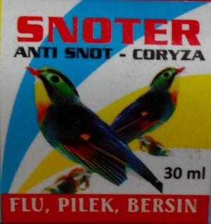 Snoter obat flu , pilek , bersin