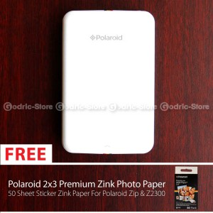 harga Polaroid Zip Mobile Photo Printer + Photo Paper (Sticker) - 50 Lembar Tokopedia.com