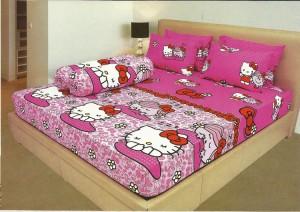 Sprei LadyRose 180×200 Kings Murah Hello Kitty Pink