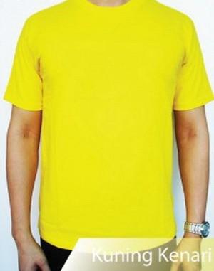 Grosir Kaos Polos Oblong Kuning Kenari Cotton Kualitas Terbaik
