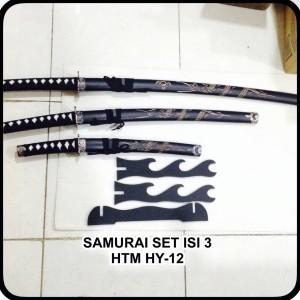 harga PEDANG SAMURAI KATANA HY 12 ,RONIN BLACK-TAJAM Tokopedia.com