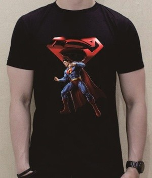 Baju Kaos T-Shirt Superman Warna Hitam