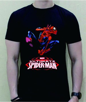Baju Kaos T-Shirt Spiderman Warna Hitam