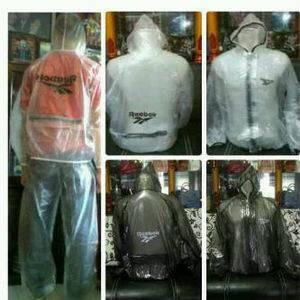 Jas Hujan Sepeda Rebbok Transparan / Jaket Sauna / Raincoat Sepeda