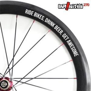 harga sticker sepeda rim wheel 700c teks ride bikes drink beer 4x/wWSQ-043 Tokopedia.com