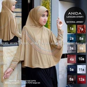 harga ANIDA jilbab bergo lengan tangan bahan jersey adem Tokopedia.com