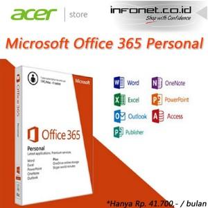 harga MICROSOFT OFFICE 365 PERSONAL (Hanya Rp.41.700,- / bulan) Tokopedia.com