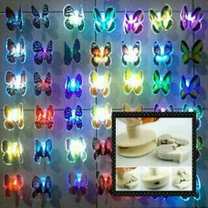 harga Lampu tidur kupu kupu LED Nyala Berubah 7 Warna Tokopedia.com