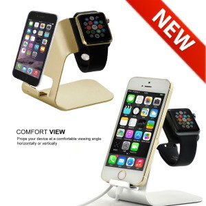harga Dual Standing Smart Phone + Watch aluminium dock Jam HP charger Iphone Tokopedia.com