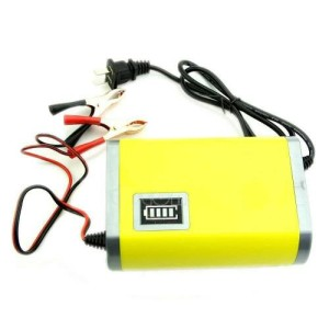 Portable Motorcrycle Car Battery Charger Aki Accu Motor Mobil 6A/12V