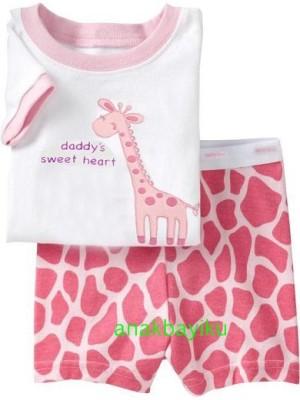 harga Pakaian Anak - Baby Gap Pajamas Girafee Pink Tokopedia.com