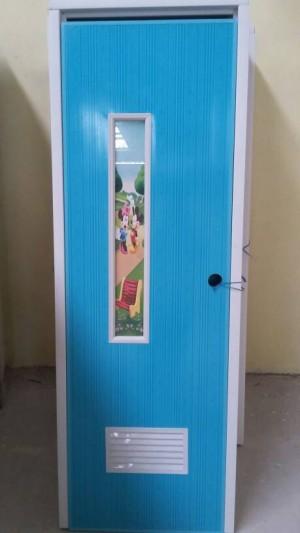 Pintu PVC Garis Kaca Minimalis