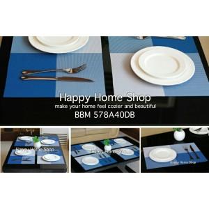 Alas Makan / Alas Piring / Table Mat PVC Anti slip Biru