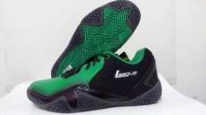 Sepatu Basket League Zero G Low (Hitam-Hijau)
