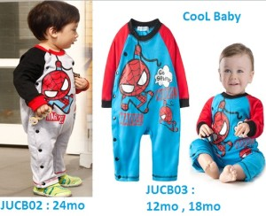 JUCB02,03 - Romper Spiderman Cool Baby
