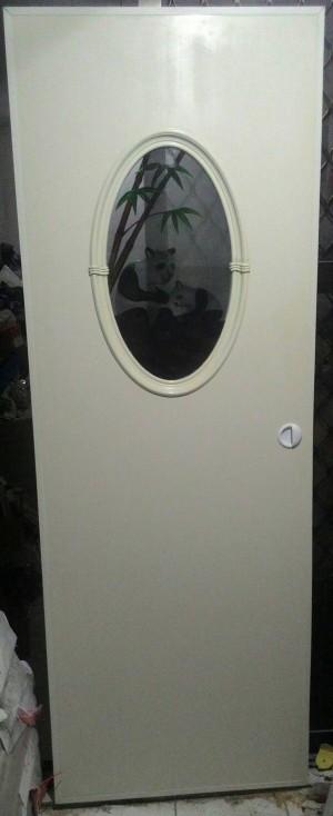 Pintu pvc MJ doors kaca oval (Maspion Profile)