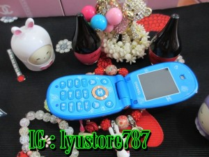 Handphone Chanel Flower - Blue