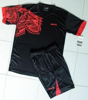 harga Setelan Baju Specs Side Hitam Merah Kaos+Celana Kaos Jersey Volly Tokopedia.com