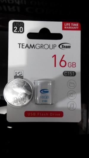 team flashdisk C151 16GB ukuran sekecil uang koin