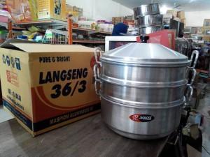 Dandang/ Langseng/ Steamer Aluminium 36/3 Jawa Maspion