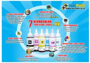 Tinta Epson L800 L850 L1800 Lebih Tahan Pudar Plus UV + Promo GRATIS