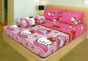 Bedcover Lady Rose Disperse 180 – Hello Kitty Pink
