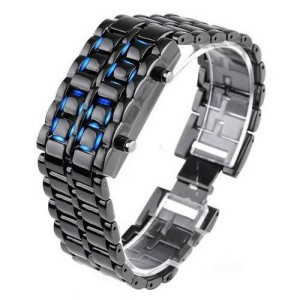 Jam tangan LED iron flashtokyo replika (blue)
