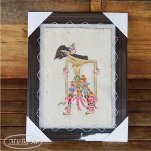 Lukisan Wayang Abimanyu Ukuran 35cm x 45cm Kulit Kambing Asli