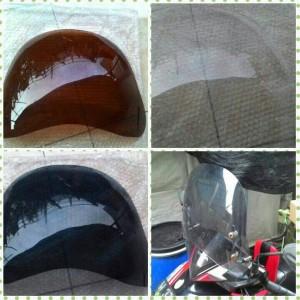 Windshield / Pelindung Dada Motor Matic dan Bebek (Brown)