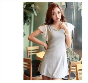 Dress Grey Import Cotton, Chiffon