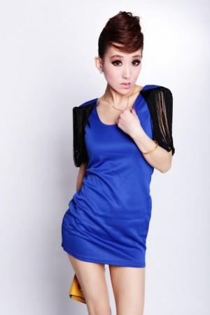 Dress  Blue Import Cotton Polyester