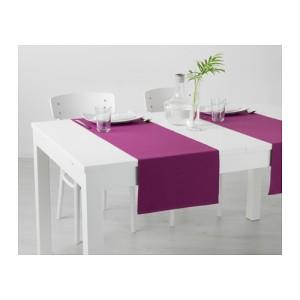 IKEA MARIT Alas/Taplak Panjang Meja Makan, 35 x 130cm, Ungu