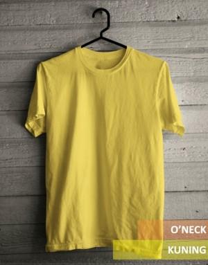 Kaos oblong O neck polos Kuning Kenari kualitas distro ukuran XXXL