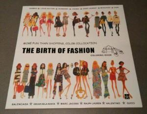 Coloring Book Buku Mewarnai Import The Birth Of Fashion Size Besar