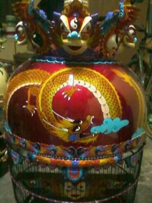 Sangkar Burung Perkutut Motif Naga Kwalitas super