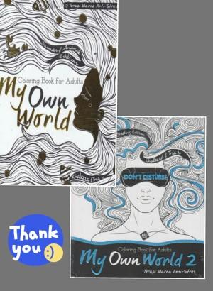 Terapi Warna Anti Stress Paket Coloring Book For Adults