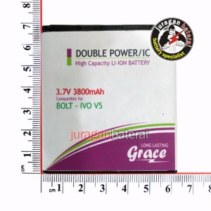 Baterai /Battery GRACE BOLT 4G POWERPHONE IVO V5, 3800mAh Double Power