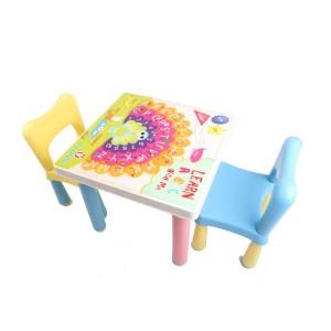 Claris Set 2 Bangku Anak dan Meja Anak Fantastic - Biru dan Kuning