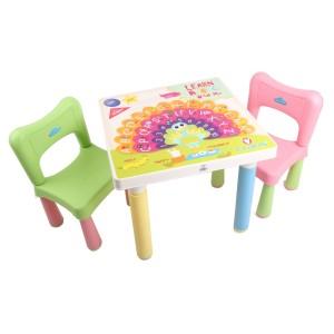Claris Set 2 Bangku Anak dan Meja Anak Fantastic - Hijau dan Pink