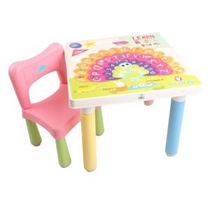 Claris Set 1 Bangku Anak dan Meja Anak Fantastic - Pink