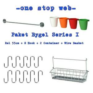 Paket Bygel I - Bygel Rel, Hook, Container & Keranjang Kecil (Lengkap)