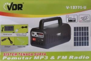 harga Speaker VDR V-1377S-U Solar System Mp3 Player & FM Radio w/Panel Surya Tokopedia.com