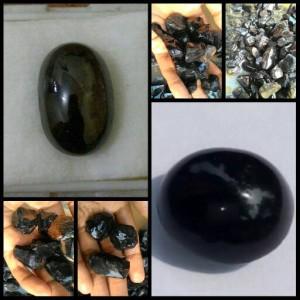 harga bongkahan black safire  batu mulia permata akik murah grosir Tokopedia.com