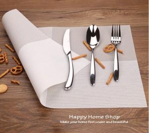 Alas Makan / Alas Piring / Table Mat PVC Anti Slip Warna Abu (Grey)