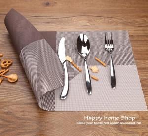 Alas Makan / Alas Piring / Table Mat PVC Anti Slip Coklat (Brown)
