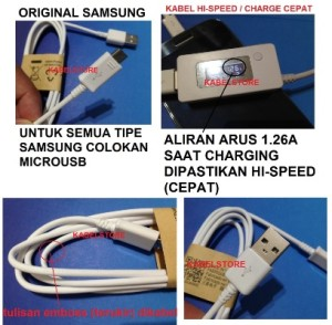 ORI Kabel Data/charger Samsung S S3 S4 Note 1/2 Prime Young Mega Duos