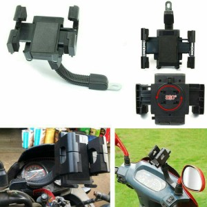 Holder Motor Spion Stand  Bracket Headpone &GPS untuk smua jenis motor