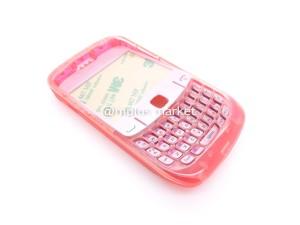 harga Casing BlackBerry Gemini Transparan Merah Fullset Tokopedia.com