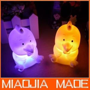 Lampu 7 Warna Bentuk Anak Ayam untuk Lampu Malam Hiasan Lucu Cute Unik